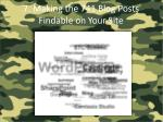 7 making the 741 blog posts findable on your site