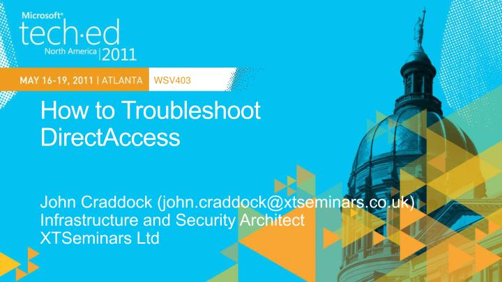 how to troubleshoot directaccess n.