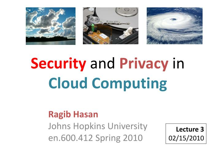 security and privacy in cloud computing n.