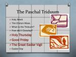 the paschal triduum