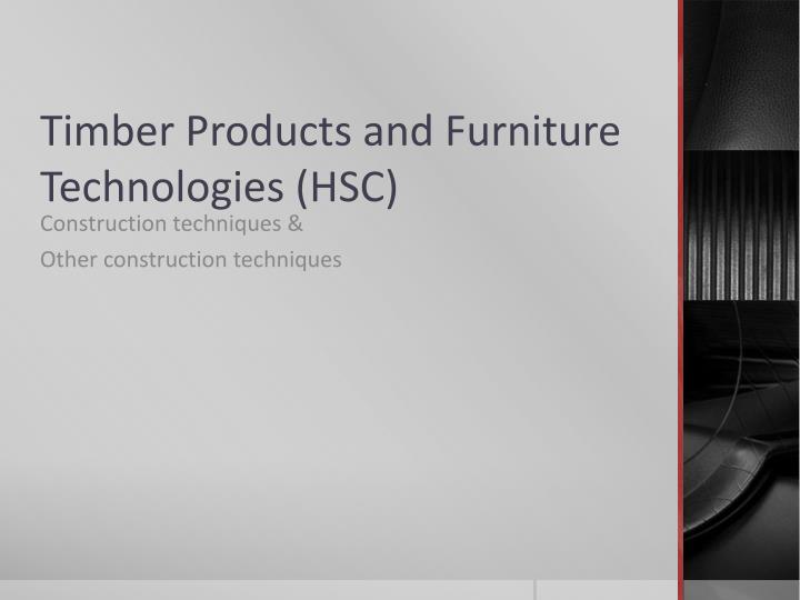 timber products and furniture technologies hsc n.
