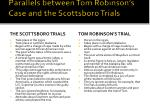 parallels between tom robinson s case and the scottsboro trials