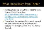 what can we learn from tkam