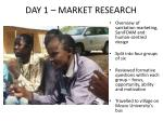 day 1 market research