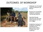 outcomes of workshop
