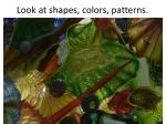 look at shapes colors patterns