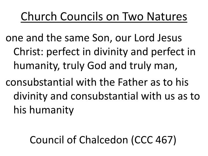 Church Councils on Two Natures