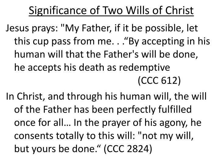 Significance of Two Wills of Christ