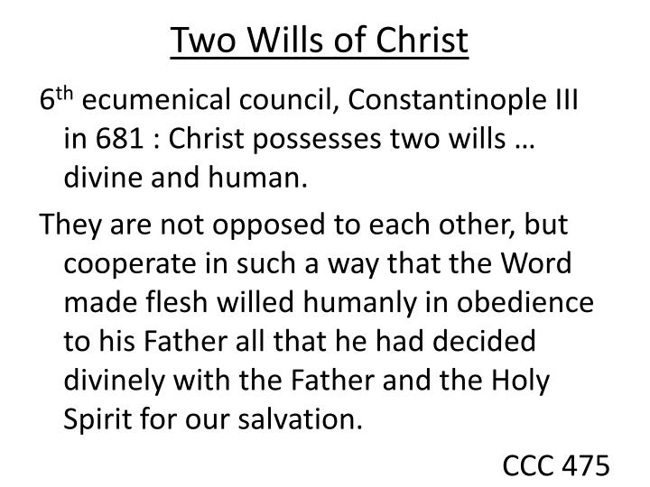 Two Wills of Christ