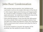 john huss condemnation
