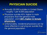 physician suicide