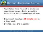 develop standards of practice