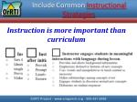 include common instructional strategies