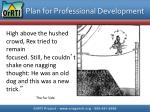 plan for professional development