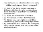 how do towns and cities look like in the early middle ages between 4 and 9 centuries
