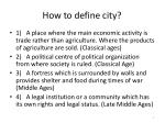 how to define city