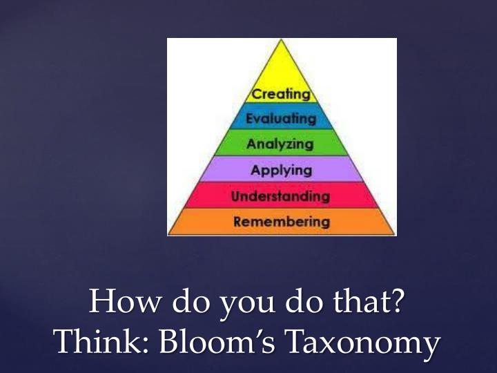 blooms tasonomy nur 427 The liability of the carrier - ghost writing essays home essays the liability of the carrier the liability of the carrier will arise here, first of all.