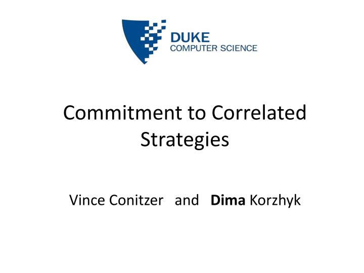 commitment to correlated strategies n.