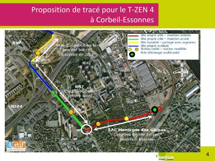 Proposition de tracé pour le T-ZEN 4