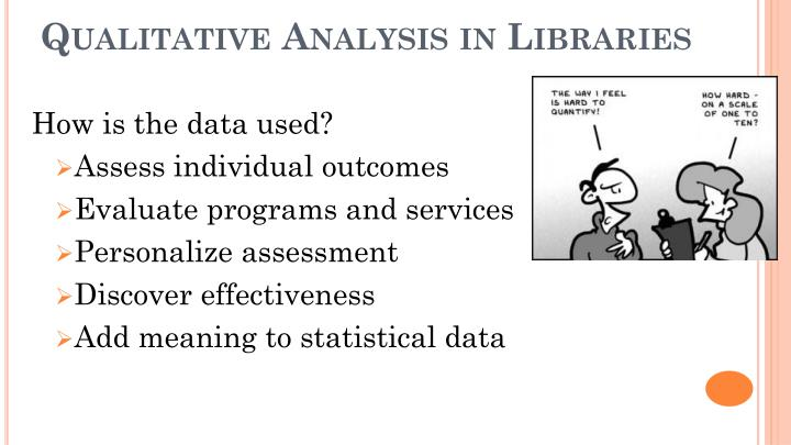 Qualitative Analysis in Libraries