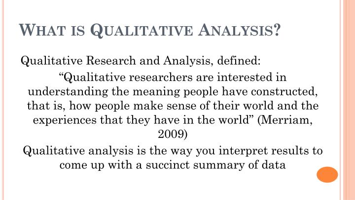 What is Qualitative Analysis?