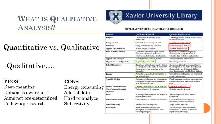 Quantitative vs. Qualitative