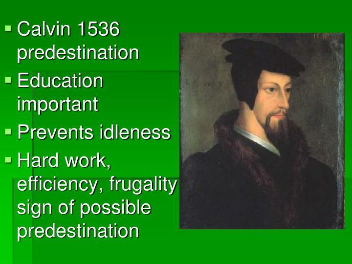 Calvin 1536 predestination
