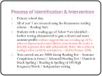 process of identification intervention