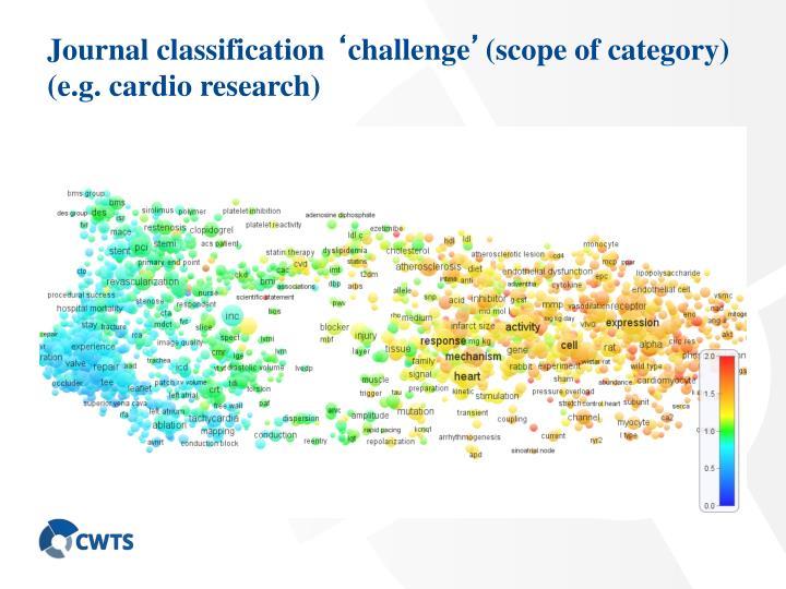 Journal classification