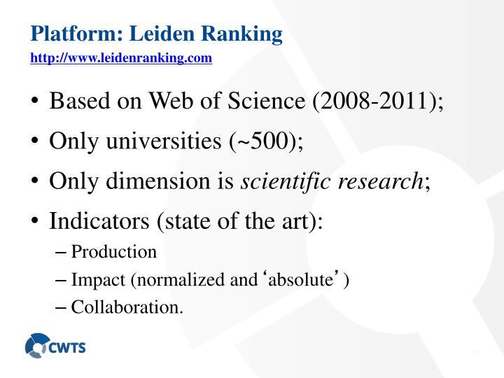 Platform: Leiden Ranking