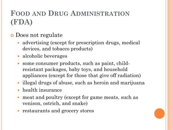 Food and Drug Administration (FDA)