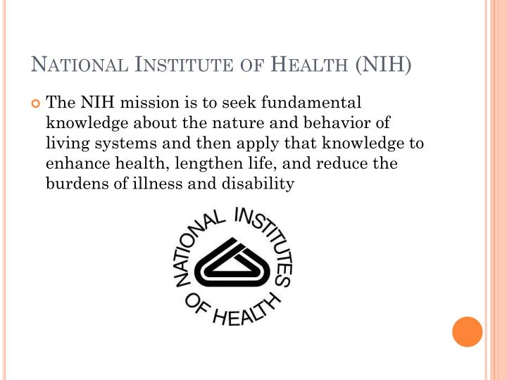 National Institute of Health (NIH