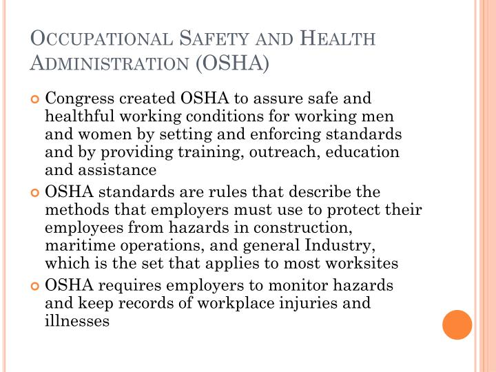 Occupational Safety and Health Administration (OSHA