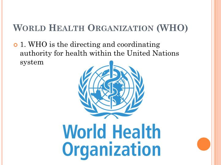 World Health Organization (
