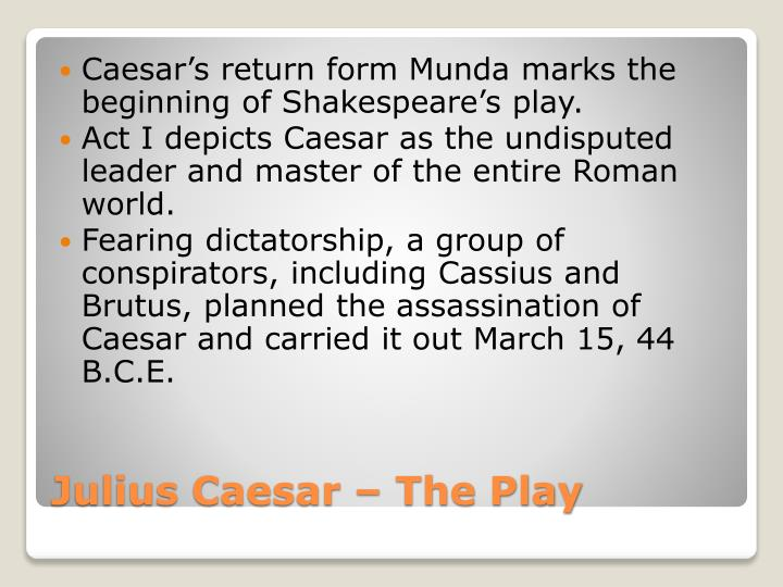 Caesar's return form
