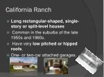 california ranch