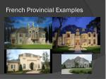 french provincial examples