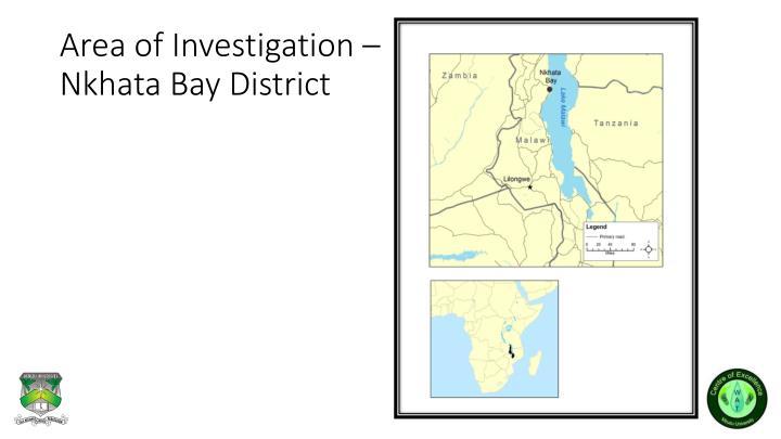 Area of Investigation –