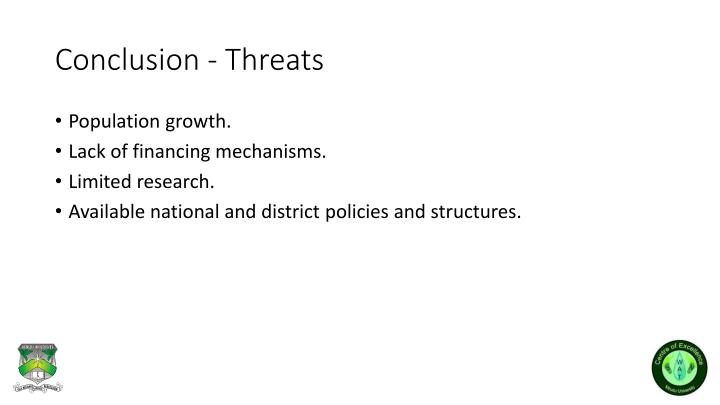 Conclusion - Threats