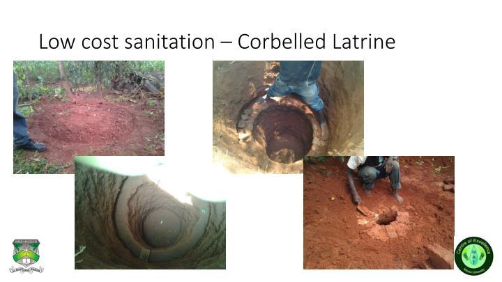 Low cost sanitation – Corbelled Latrine