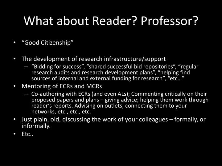 What about Reader? Professor?