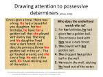 drawing attention to possessive determiners white 1998