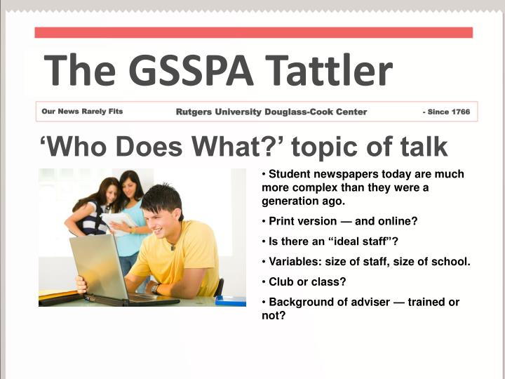 The GSSPA Tattler