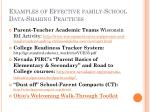 examples of effective family school data sharing practices