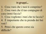 in gruppi