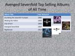 avenged sevenfold top selling albums of all time