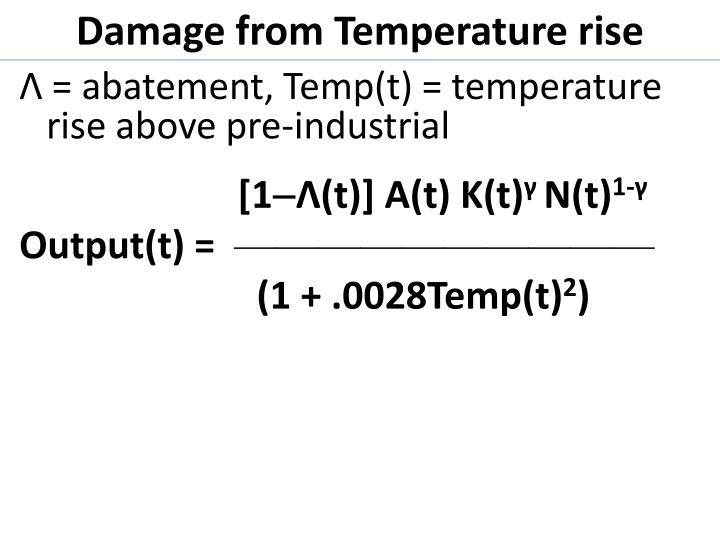 Damage from Temperature rise