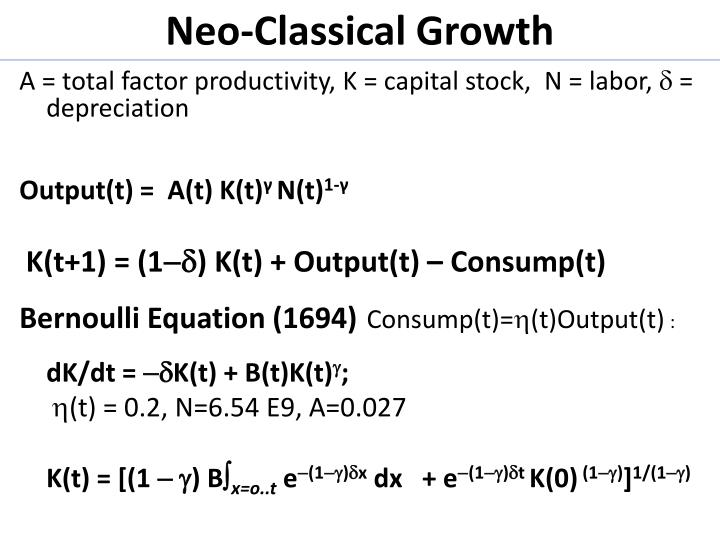 Neo-Classical Growth