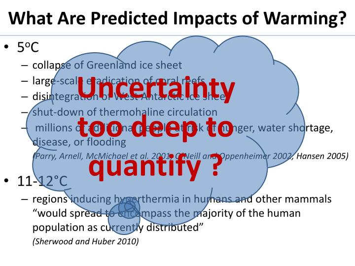 What Are Predicted Impacts of Warming?