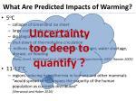 what are predicted impacts of warming